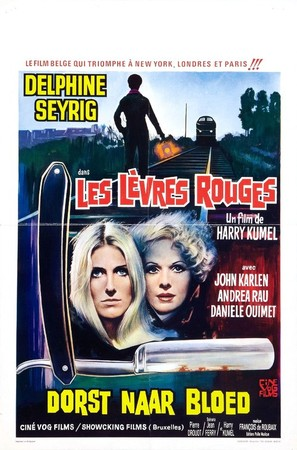 Les lèvres rouges - Belgian Movie Poster (thumbnail)