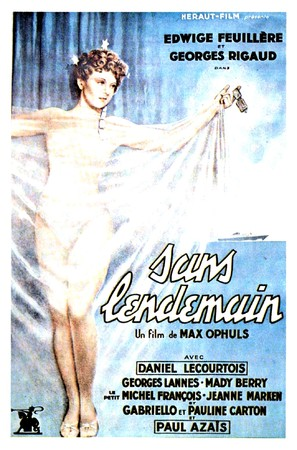 Sans lendemain - French Movie Poster (thumbnail)