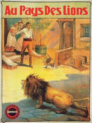 Au pays des lions - French Movie Poster (thumbnail)