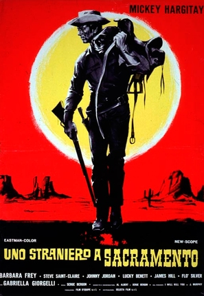 Uno straniero a Sacramento - Italian Movie Poster (thumbnail)