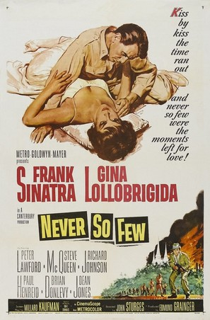 Never So Few - Theatrical poster (thumbnail)