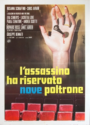 L'assassino ha riservato nove poltrone - Italian Movie Poster (thumbnail)