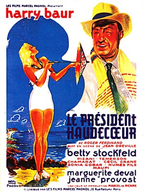 Le président Haudecoeur - French Movie Poster (thumbnail)