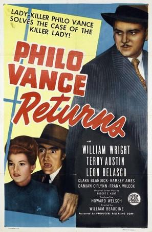 Philo Vance Returns - Movie Poster (thumbnail)