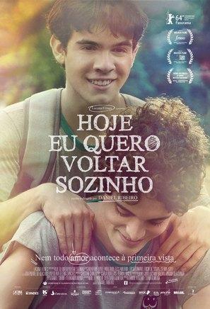 Hoje Eu Quero Voltar Sozinho - Brazilian Movie Poster (thumbnail)