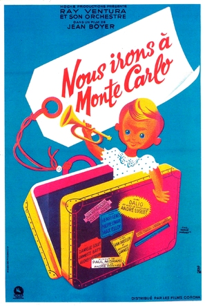 Nous irons à Monte Carlo - French Movie Poster (thumbnail)