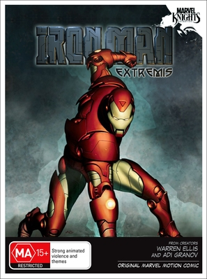 """Iron Man: Extremis"" - Australian DVD movie cover (thumbnail)"