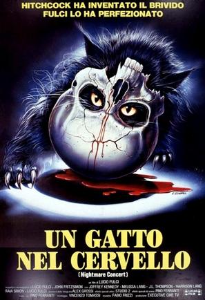 Un gatto nel cervello - Italian Movie Poster (thumbnail)