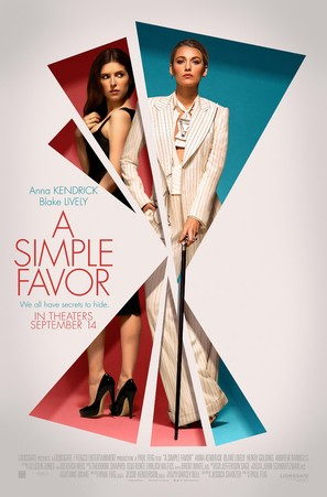 A Simple Favor - Theatrical movie poster (thumbnail)