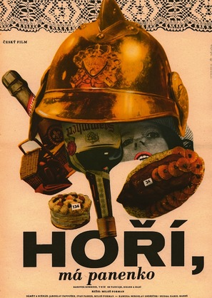 Horí, má panenko - Czech Movie Poster (thumbnail)