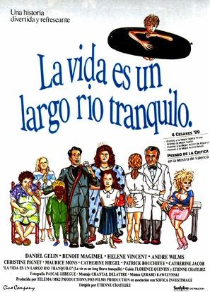 Vie est un long fleuve tranquille, La - Spanish Movie Poster (thumbnail)