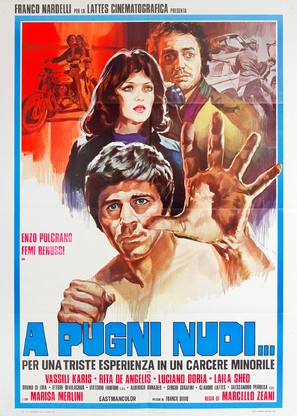 A pugni nudi - Italian Movie Poster (thumbnail)