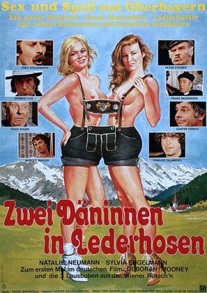 Zwei Däninnen in Lederhosen - German Movie Poster (thumbnail)