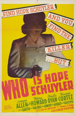 Who Is Hope Schuyler? - Movie Poster (thumbnail)