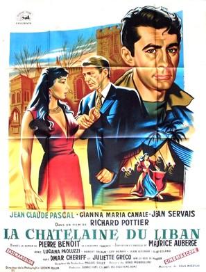 La châtelaine du Liban - French Movie Poster (thumbnail)