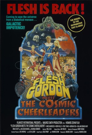 Flesh Gordon Meets the Cosmic Cheerleaders - Movie Poster (thumbnail)