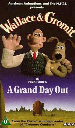A Grand Day Out with Wallace and Gromit - British VHS movie cover (thumbnail)