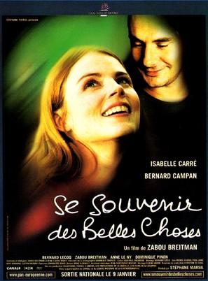 Se souvenir des belles choses - French Movie Poster (thumbnail)
