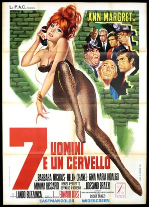 7 uomini e un cervello - Italian Movie Poster (thumbnail)
