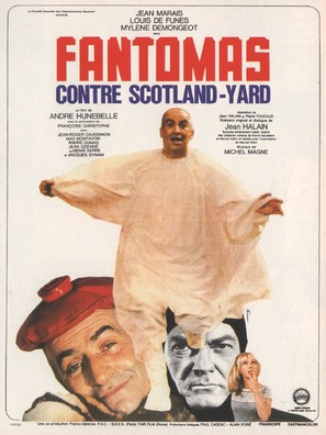Fantômas contre Scotland Yard - French Movie Poster (thumbnail)