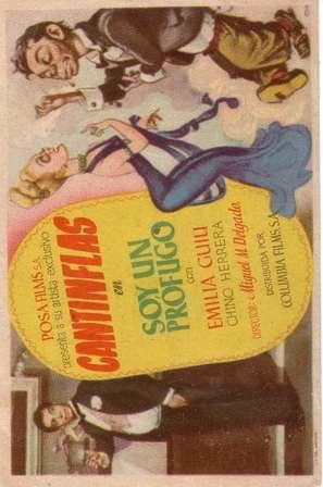 Soy un prófugo - Spanish Movie Poster (thumbnail)