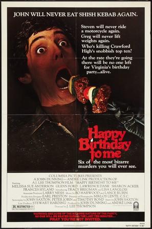 Happy Birthday to Me - Movie Poster (thumbnail)