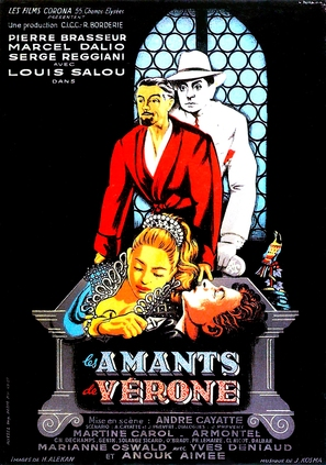 Amants de Vèrone, Les - French Movie Poster (thumbnail)
