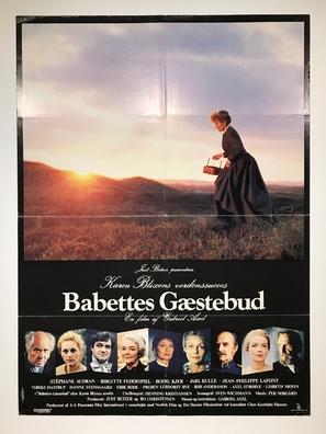Babettes gæstebud - Danish Movie Poster (thumbnail)