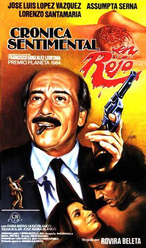 Crónica sentimental en rojo - Spanish Movie Poster (thumbnail)