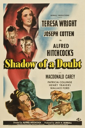 Shadow of a Doubt - Theatrical movie poster (thumbnail)