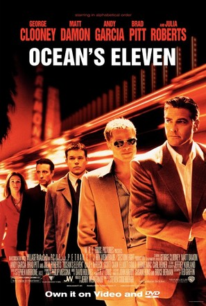 Ocean's Eleven - Video release movie poster (thumbnail)