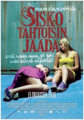 Sisko tahtoisin jäädä - Finnish Movie Poster (thumbnail)