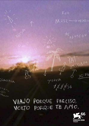Viajo Porque Preciso, Volto Porque te Amo - Brazilian Movie Poster (thumbnail)