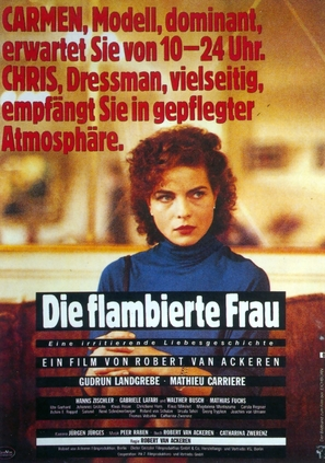 Flambierte Frau, Die - German Movie Poster (thumbnail)