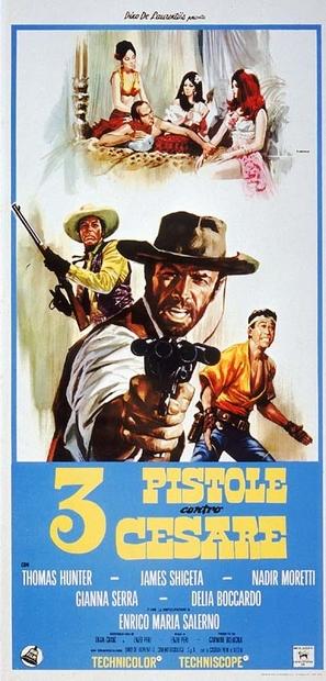 3 pistole contro Cesare - Italian Movie Poster (thumbnail)