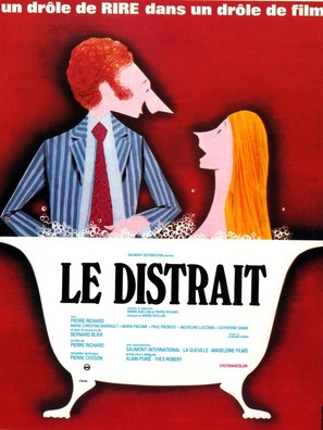 Le distrait - French Movie Poster (thumbnail)