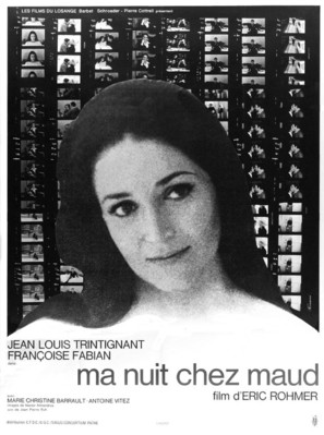 Ma nuit chez Maud - French Movie Poster (thumbnail)
