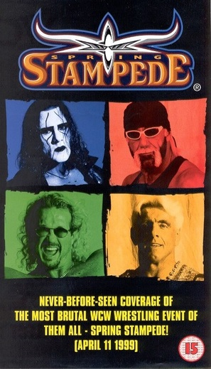 WCW Spring Stampede - British VHS movie cover (thumbnail)