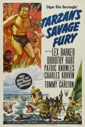 Tarzan's Savage Fury - Movie Poster (thumbnail)