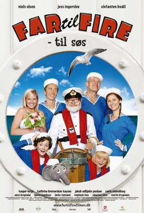 Far til fire - til Søs - Danish Movie Poster (thumbnail)