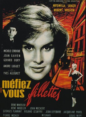 Méfiez-vous, fillettes! - French Movie Poster (thumbnail)
