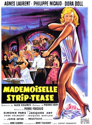 Mademoiselle Strip-tease - French Movie Poster (thumbnail)