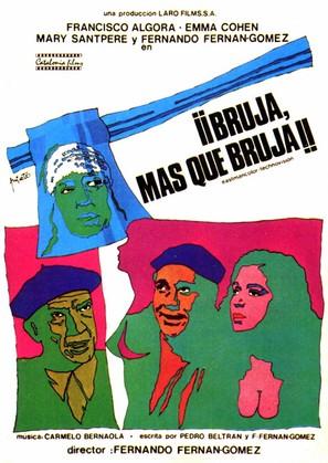 Bruja, más que bruja - Spanish Movie Poster (thumbnail)