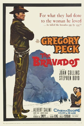 The Bravados - Theatrical movie poster (thumbnail)