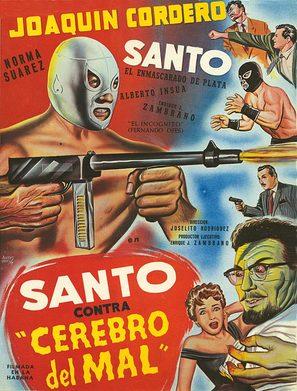 Santo contra cerebro del mal - Movie Poster (thumbnail)
