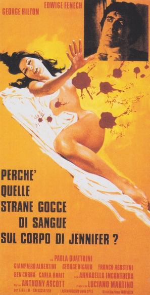 Perchè quelle strane gocce di sangue sul corpo di Jennifer? - Italian Movie Poster (thumbnail)