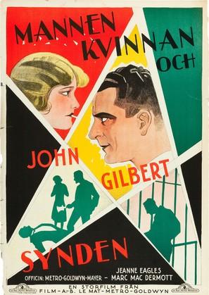 Man, Woman and Sin - Swedish Movie Poster (thumbnail)