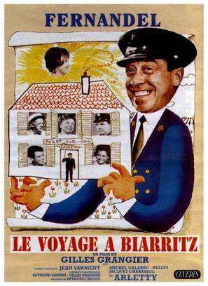 Le voyage à Biarritz - French Movie Poster (thumbnail)