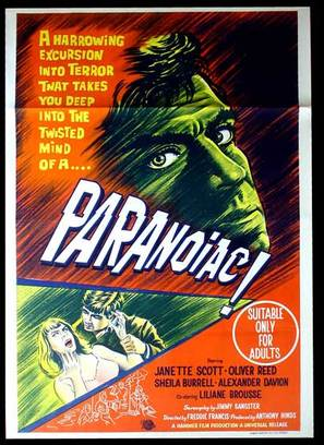 Paranoiac - Australian Movie Poster (thumbnail)