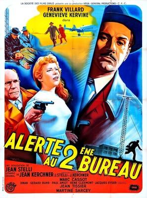 Alerte au deuxiéme bureau - French Movie Poster (thumbnail)